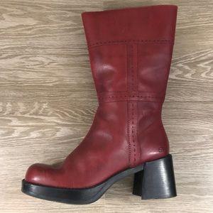 3b4e865a514 Sketchers red tall 90  platform heeled boot 11 10